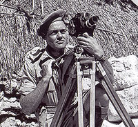 Lt. Al Fraser, War Cameraman. August 20, 1943. Location: Sicily. (LAC PA# 206208)