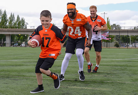 Darevin teamed up with players from the BC Lions for the 2017 CFL PLAYSAFE PSA.